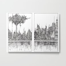 The City of our Tallest Fears Metal Print