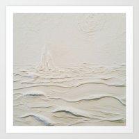 Sculpted Seascape Art Print