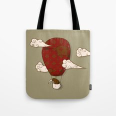 The Kiwi Learns to Fly Tote Bag