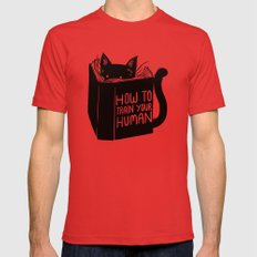 How To Train Your Human Mens Fitted Tee Red SMALL