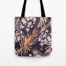 Golden oriental palms Tote Bag