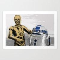 C3PO & R2D2 Art Print