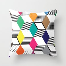 Cubes   Color Throw Pillow