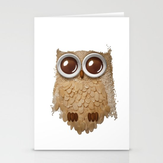 Owl Collage #6 Stationery Card