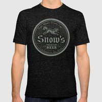 Snow's Premium Mens Fitted Tee Tri-Black SMALL