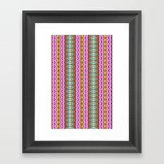 Candy Stripes Framed Art Print
