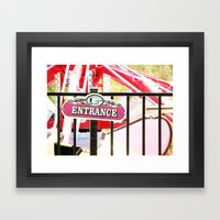On the Way to Fun Framed Art Print