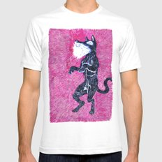 Black Dog Rampage Mens Fitted Tee White SMALL