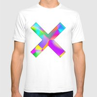 Expressionist Cubes Mens Fitted Tee White SMALL