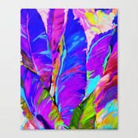 Exotic Leaves Canvas Print