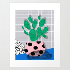 Iffy - Cactus Desert Pal… Art Print