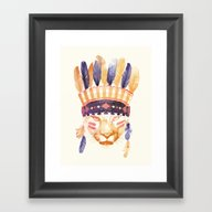 Big Chief Framed Art Print