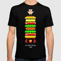 BurgerTime Mens Fitted Tee Black SMALL
