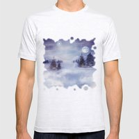 Winter Night Mens Fitted Tee Ash Grey SMALL