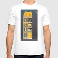 Night spy SMALL White Mens Fitted Tee