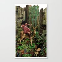 Deerlove | Collage Canvas Print