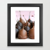 Chocolate Covered Cherries Framed Art Print