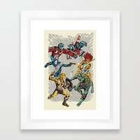 80's Smash Framed Art Print