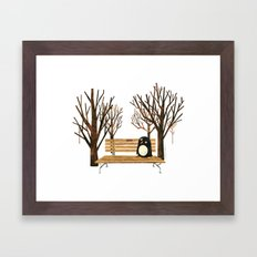 Met a Penguin in the Park Framed Art Print