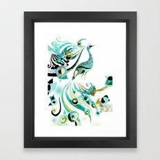 Lone Peacock Framed Art Print
