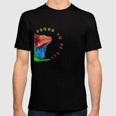 Proud to be Gay Black SMALL Mens Fitted Tee