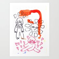 Folks Art Print