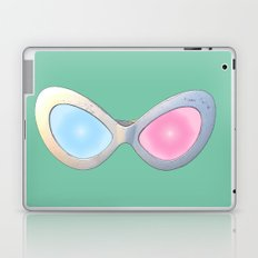 Blue and Pink Cat Eye Glasses Laptop & iPad Skin