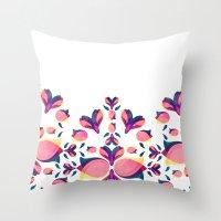 Tulip Pattern Throw Pillow