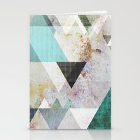 Graphic 3 blue Stationery Cards