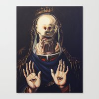 Pale Man With Crown Canvas Print