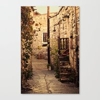 Omodos Cyprus Alley Canvas Print