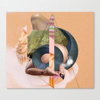 The Dangers of Origami (Crippled Flesh Series)  By Zabu Stewart Canvas Print