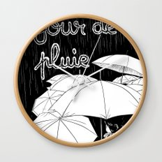 jour de pluie (rainy day) Wall Clock