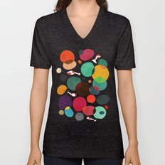 Lotus In Koi Pond Unisex V-Neck