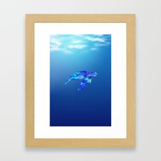 Underwater Sea Turtle Framed Art Print