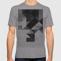 Triangle Pattern Mens Fitted Tee Athletic Grey SMALL