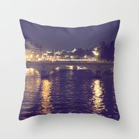 Paris by Night II Throw Pillow