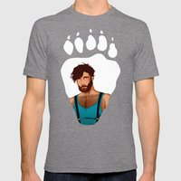 Bear - Wolf Mens Fitted Tee Tri-Grey SMALL
