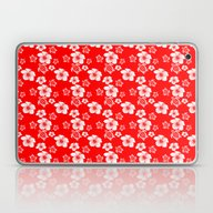 Red And White Turtles Ha… Laptop & iPad Skin