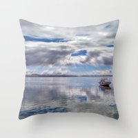 Lake Titcaca Throw Pillow
