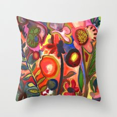 Floral Parade Throw Pillow