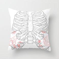 Human ribs cage Throw Pillow
