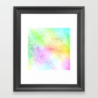 Colored Encaustic Patter… Framed Art Print