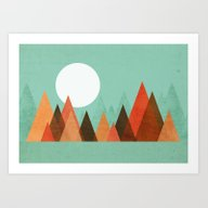 Art Print featuring From The Edge Of The Mou… by Budi Kwan