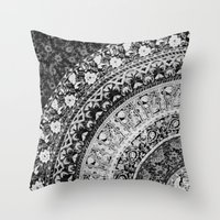 Ditsy Greyscale Throw Pillow
