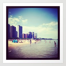 North Shore Chicago  Art Print