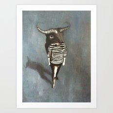 Masquerade pt 3 Minotaurus Art Print