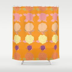 Bright and Bold Floral Dance Shower Curtain