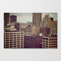 Scrap City Canvas Print