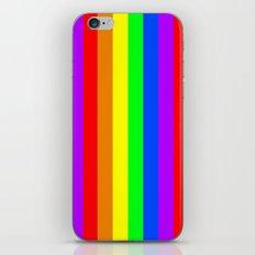 Rainbow Pride flag (vertical format) iPhone & iPod Skin